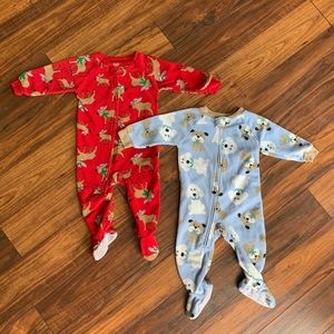Carter's footed sleepers (2)